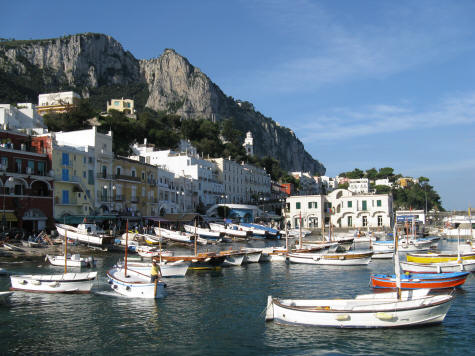Marina Grande on the Island of Capri