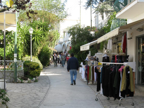 Shopping on the Island of Capri
